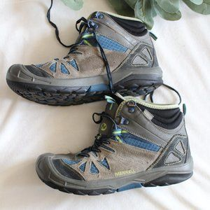 MERRELL Boys Capra Mid Waterproof Hiking Boots
